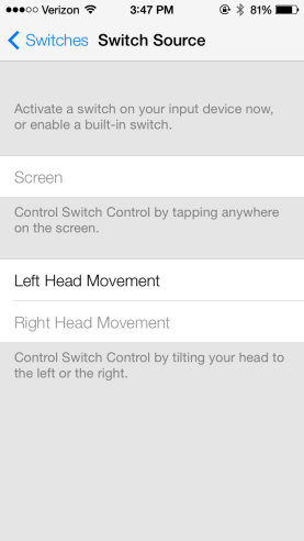 iOS 7 Head Movement
