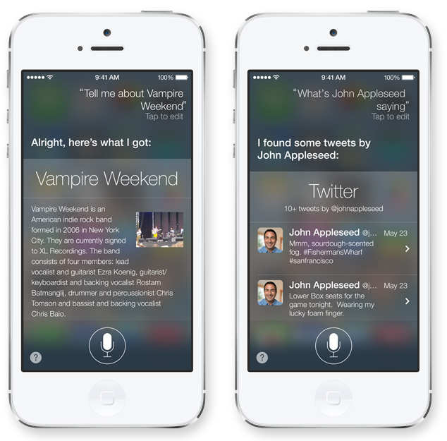 iOS 7 Siri Results