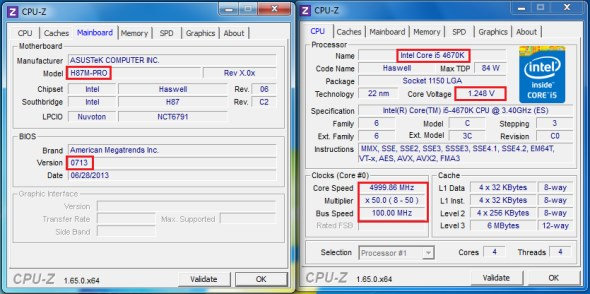 Intel 4th Gen Core processor overclocking on ASUS H87M-Pro