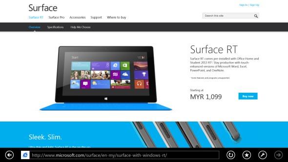 Microsoft Surface RT Malaysia - July 2013