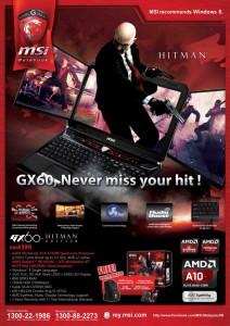 MSI GX60 Hitman Edition