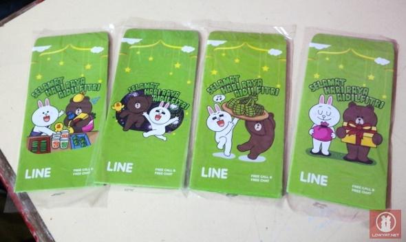 Line Raya Envelopes 2013