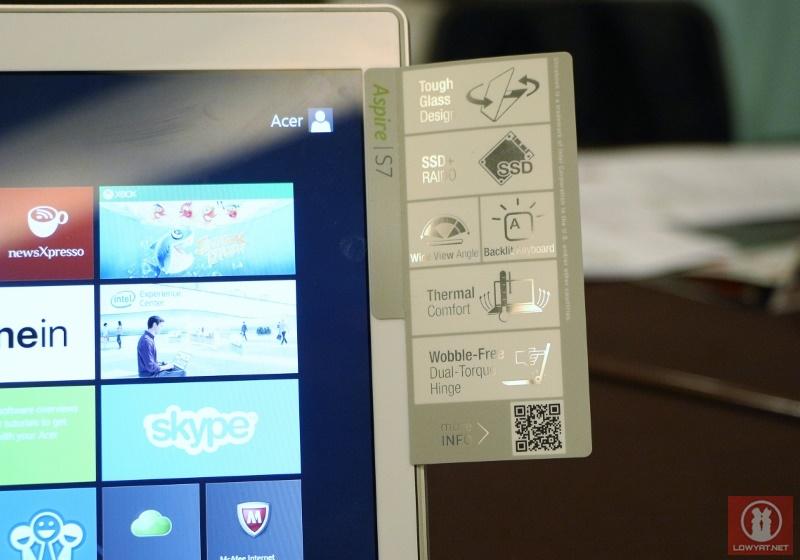 2013 Acer Aspire S7 Ultrabook