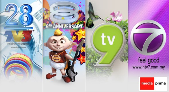 Media Prima TV Channels