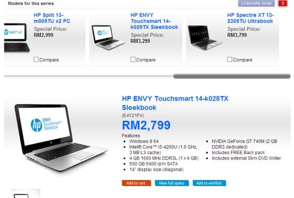 HP Envy TouchSmart 14 Sleekbook