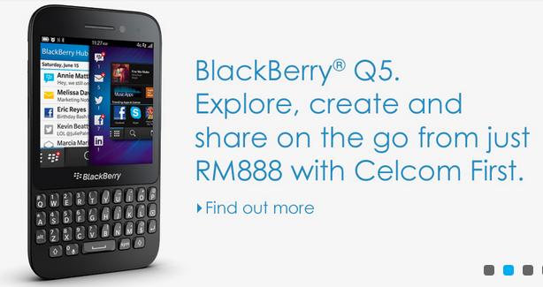 Celcom BlackBerry Q5