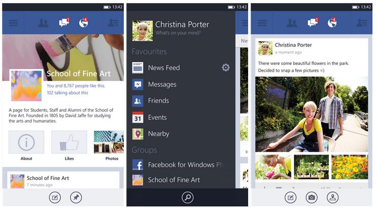 facebook app for windows phone