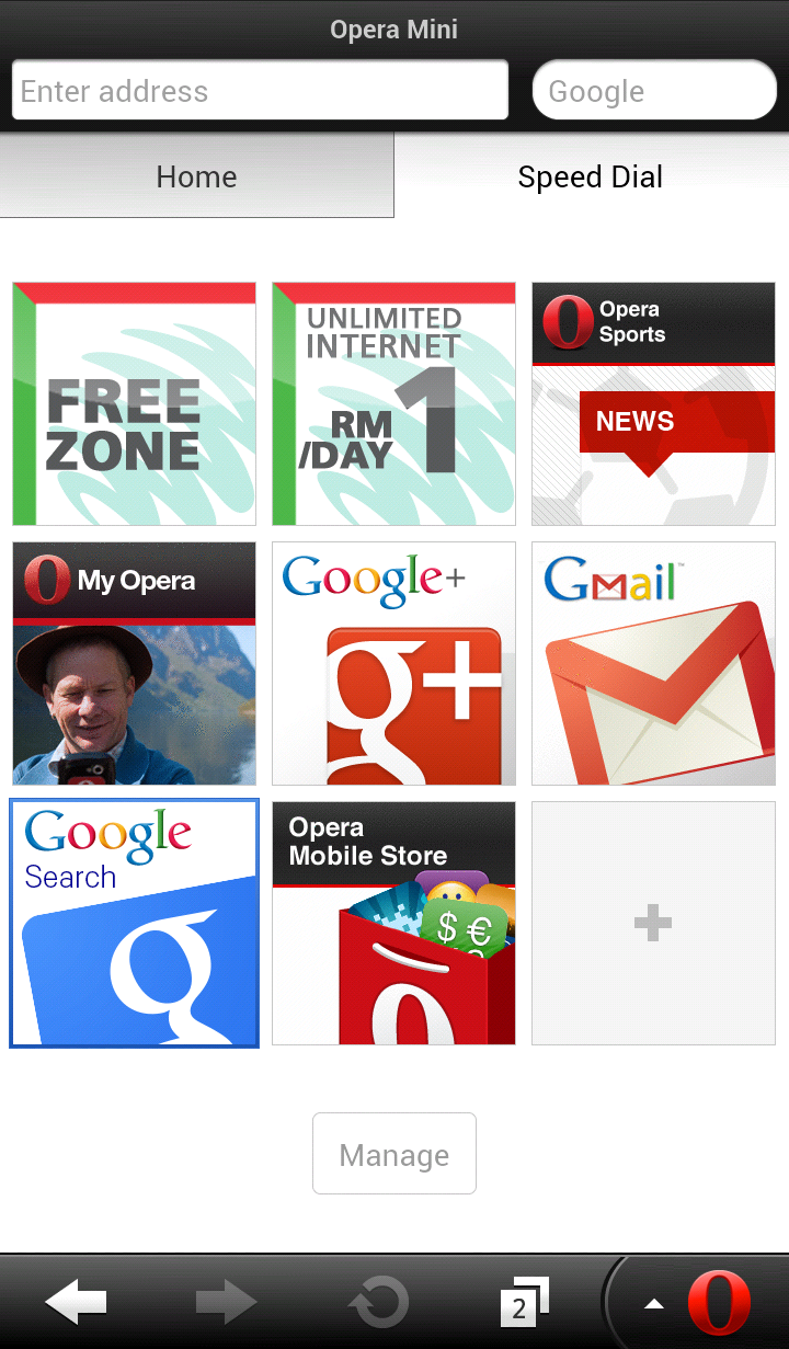 Maxis-Opera Mini browser