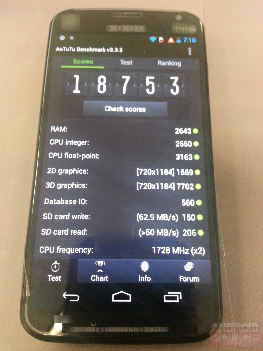 Moto X benchmark 1