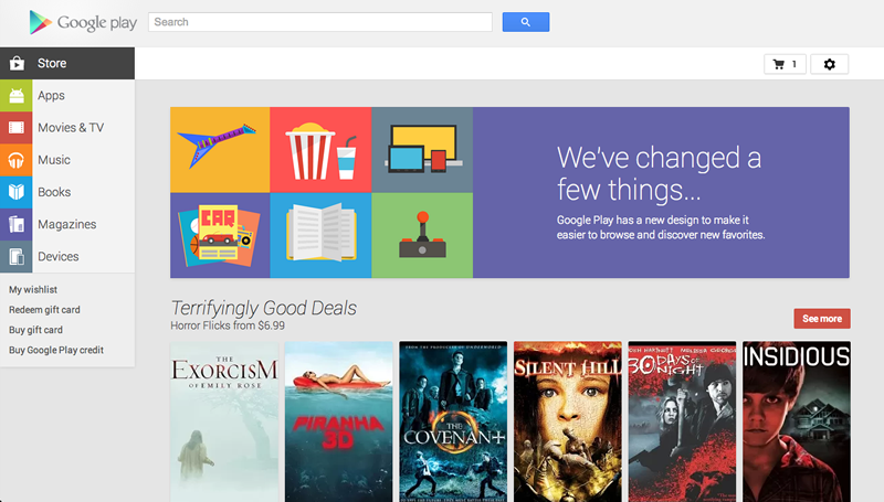 New Google Play Web