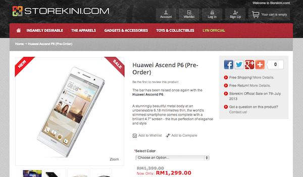 Storekini Ascend P6 Preorder