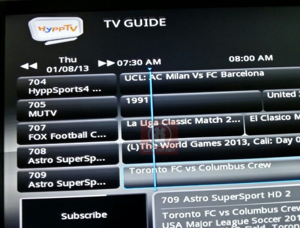 Astro Supersports on HyppTV