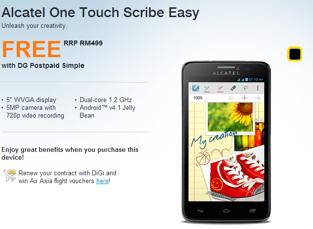 DiGi Alcatel One Touch Scribe Easy