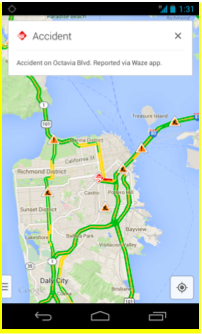 Google with Waze