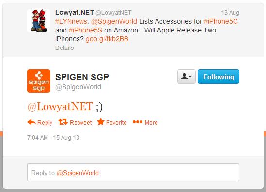 Spigen SGP Twitter