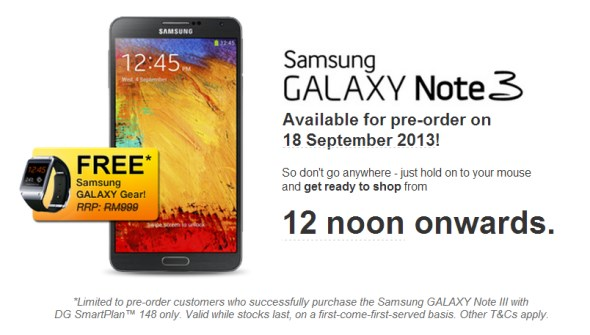 DiGi Samsung Galaxy Note 3 Pre-Order