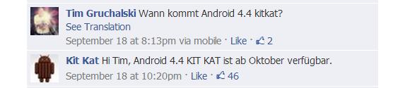 Android 4.4 Kit Kat FB