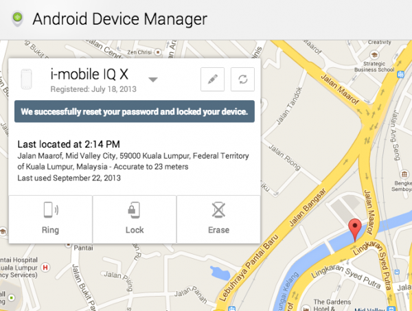 Android Device Manager Remote Lock