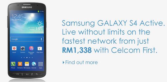 Celcom S4 Active Main