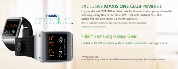 Maxis Note 3 One Club