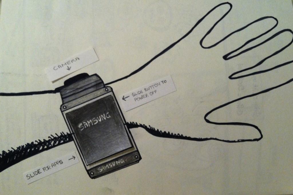 VentureBeat Galaxy Gear Sketch