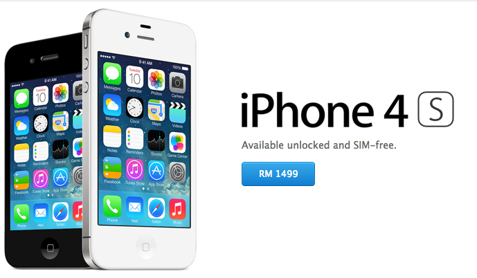 Apple Malaysia Online Store Now Offering 8GB IPhone 4S At RM1499