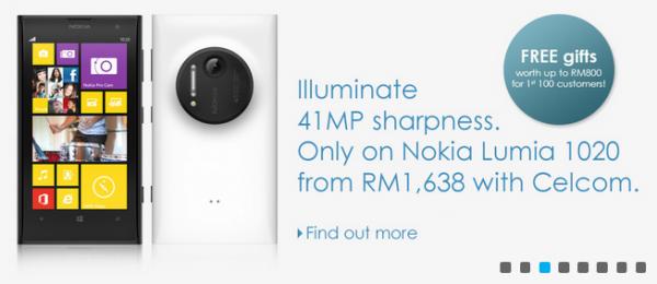 Celcom Lumia 1020