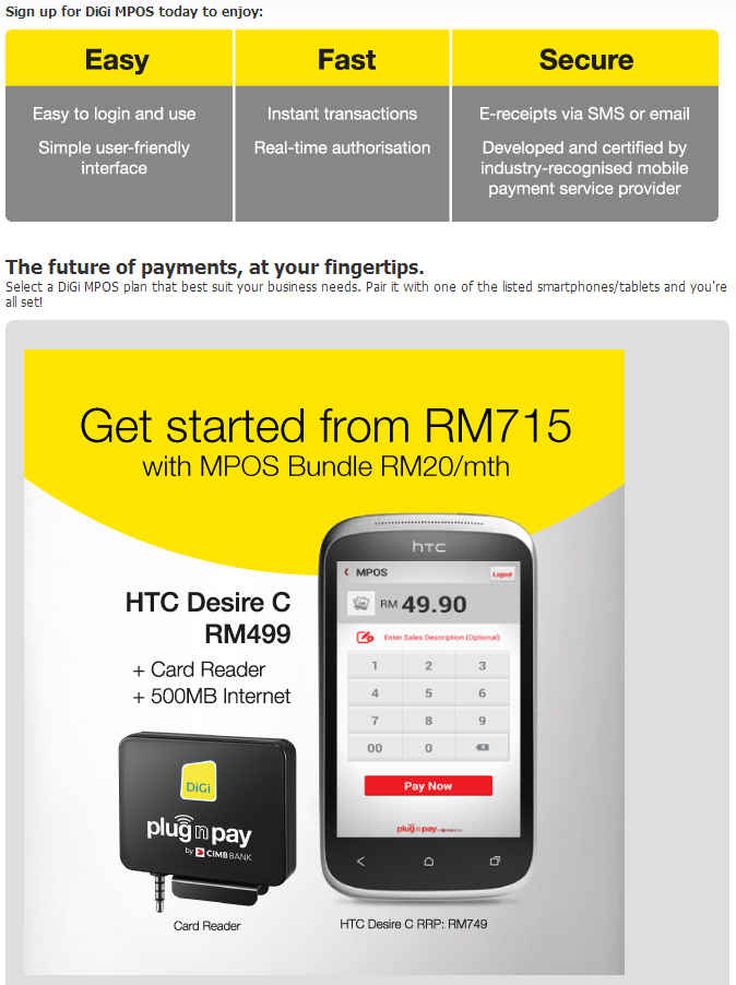 Digi partners with cimb to announce a mpos system with pocket sized digi mpos reheart Choice Image