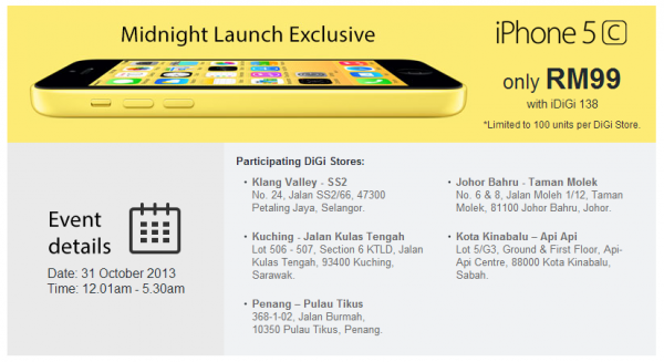 DiGi iphone Price Unveiled