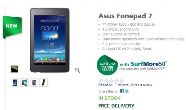 Maxis Asus Fonepad 7