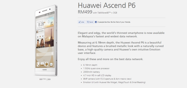 Maxis Huawei Ascend P6