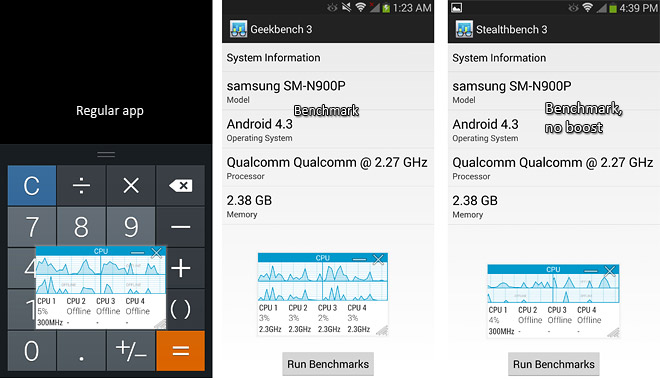 Samsung Boost Benchmark on Note 3 1