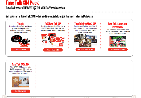 Tune Talk SIM Packs