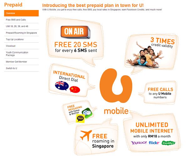 U Mobile Prepaid