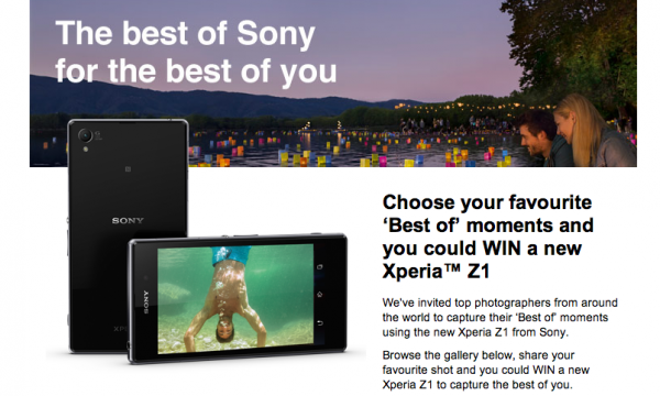 Xperia Z1 Best of contest