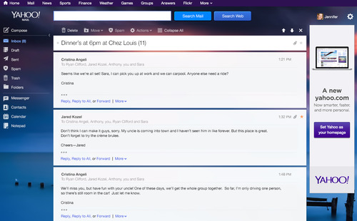 Yahoo Mail New Design 1
