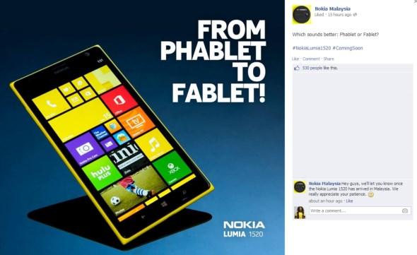 Nokia Malaysia Lumia 1520 Teaser