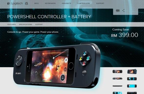 Logitech Powershell Controller + Battery for iPhone