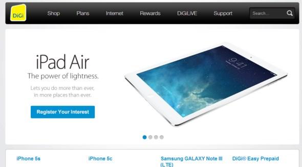 iPad Air Registration of Interest @ DiGi