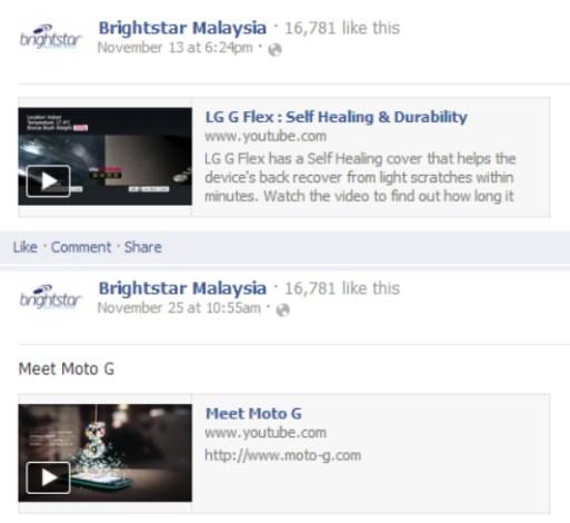 LG G Flex - Motorola Moto G - Brightstar Malaysia