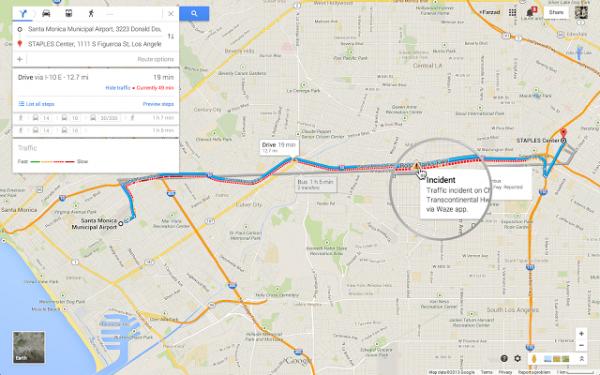 Google Maps Waze Report