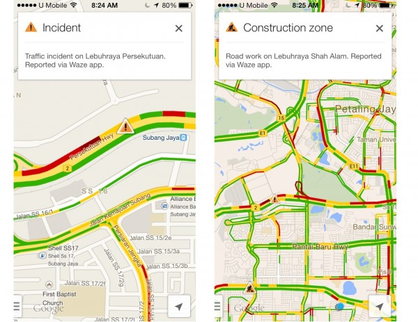 Google Adds Waze Traffic Report to Google Maps for Android and iOS