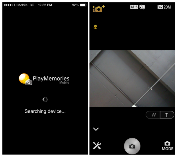 PlayMemories App for iPhone