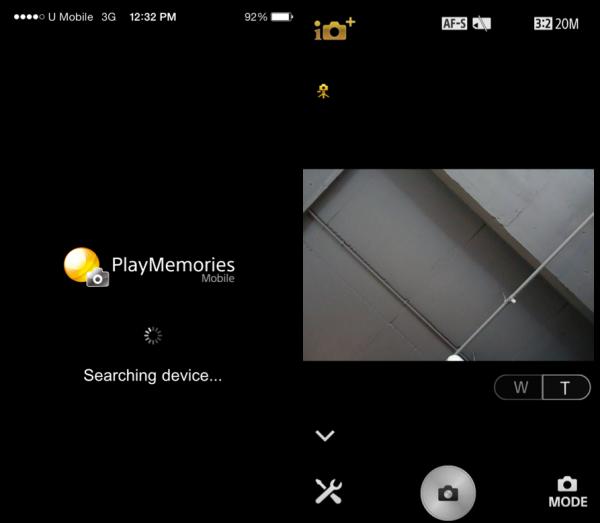 PlayMemories App for iPhone