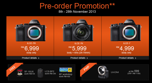 Sony A7 Preorder Promotion