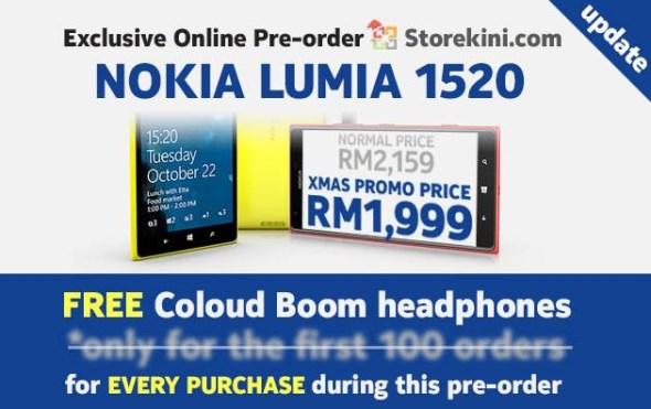Nokia Lumia 1520 Pre-Order, Storekini