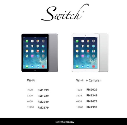 The Full Price List Of IPad Air For Malaysia Finally