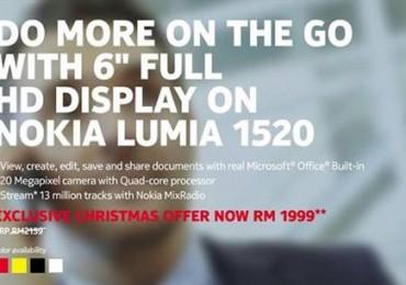 Nokia Malaysia's Lumia 1520 Xmas Promo
