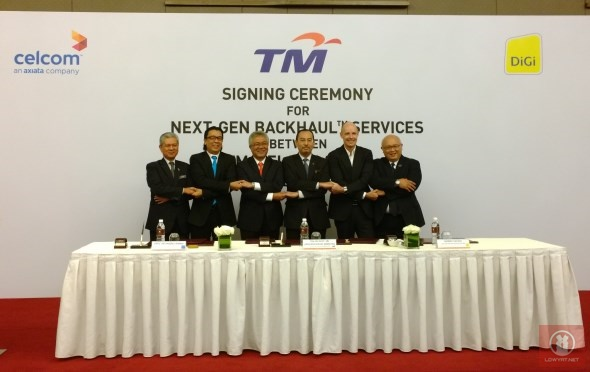 Celcom, DiGi and TM Next-Gen Backhaul Services Signing Ceremony