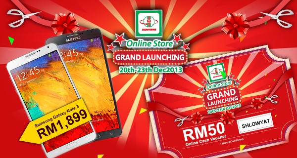 Senheng Online Store Grand Launching RM50 Voucher